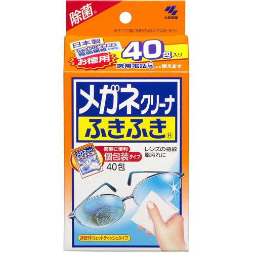 고바야시제약 안경 클리너 일회용 안경닦이 40포