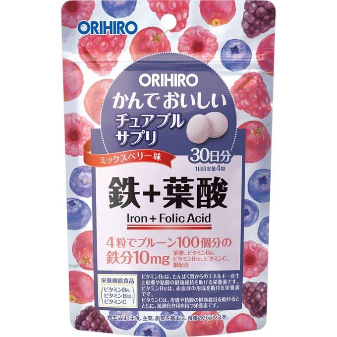 오리히로 씹어먹는 맛있는 츄어블 철분 영양제 120정