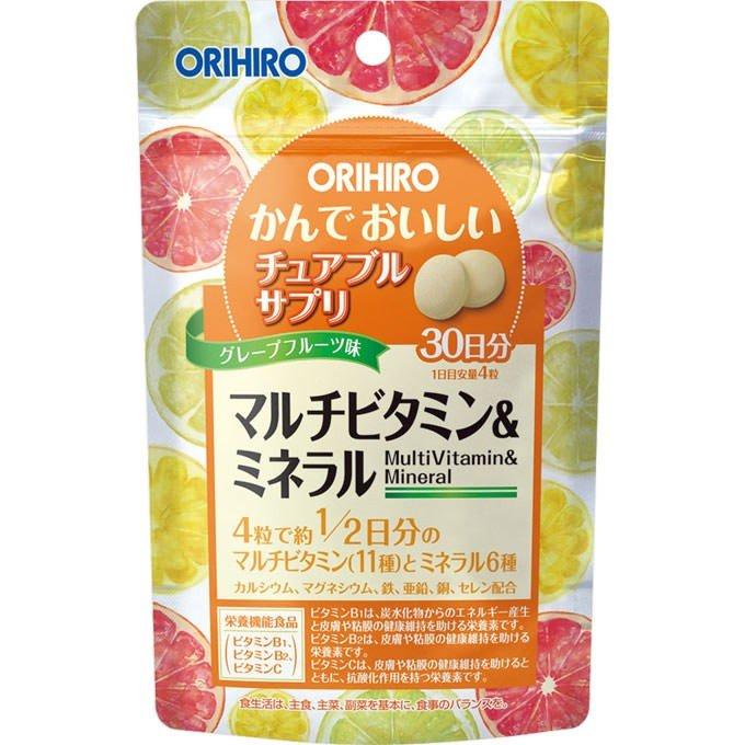 오리히로 씹어먹는 맛있는 멀티 비타민&미네랄 120정
